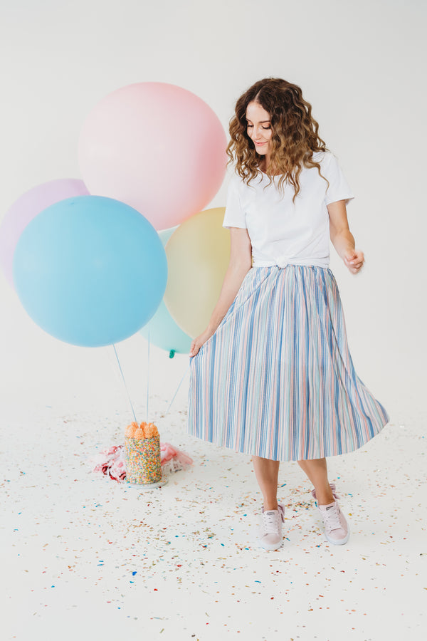 Ice Cream Pleats Skirt