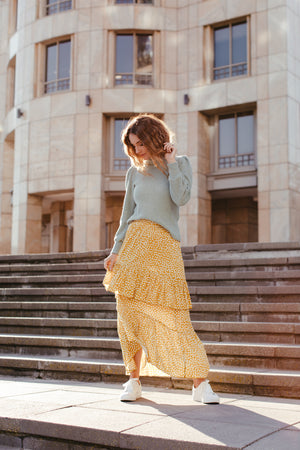 Yellow Frill Skirt