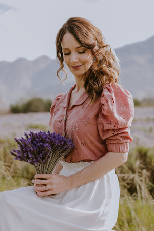 Sweet Lavender Anglaise Blouse