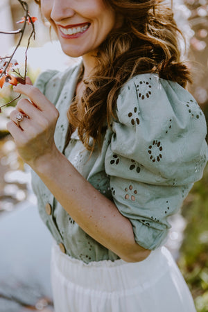 Sweet Sage Anglaise Blouse