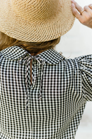 Checkmate - Black & White Gingham Blouse
