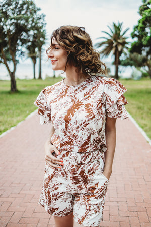 The Palms Frill Blouse