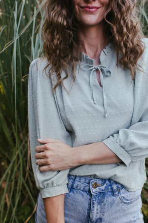 Sage Frill Blouse