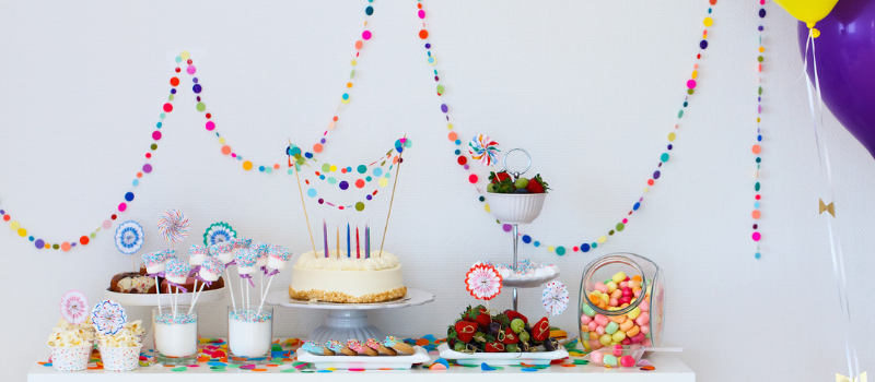 Pop Roc Parties | Party Food Table