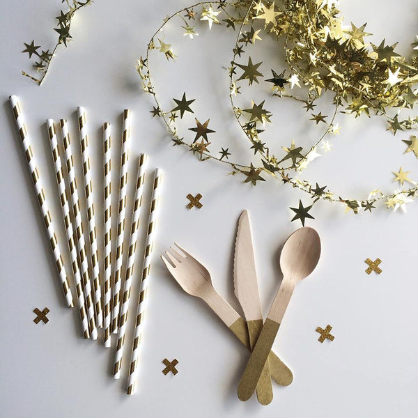 Gold Star Wire Garland - Pop Roc Parties