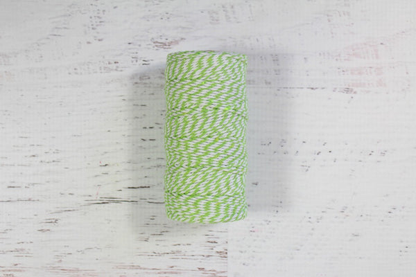 Lime Green 12 Ply Bakers Twine Roll - Pop Roc Parties