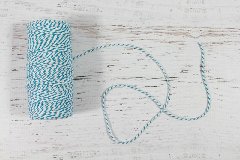 Teal Roll of 12 Ply Bakers Twine - Pop Roc Parties