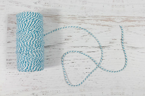 Teal Roll of 12 Ply Bakers Twine