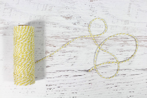 Lemon Yellow 12 Ply Bakers Twine Roll - Pop Roc Parties