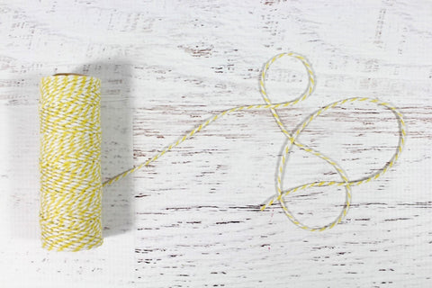 Lemon Yellow 12 Ply Bakers Twine Roll