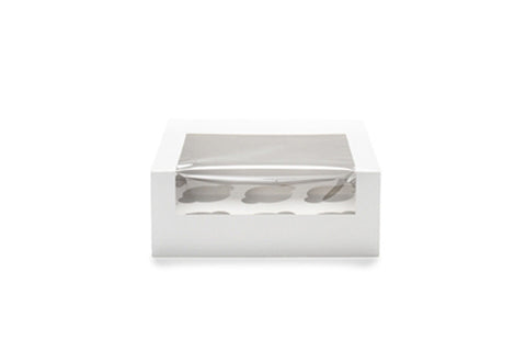 White Cupcake Window Box