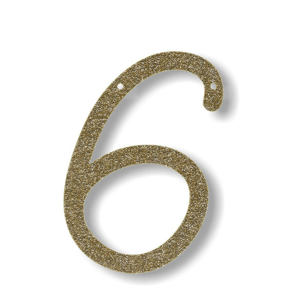 Gold Glitter Number & Symbol Banner Pennants - Pop Roc Parties