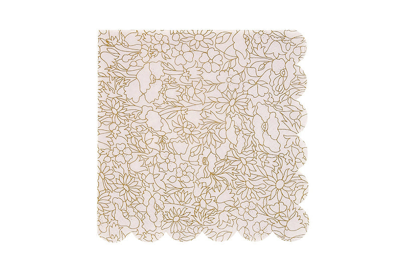 Abstract Betsy Gold Napkins - Pop Roc Parties