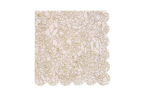 Abstract Betsy Gold Napkins