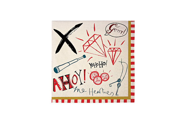 Meri Meri Ahoy There! Pirate Napkins | Pop Roc Parties
