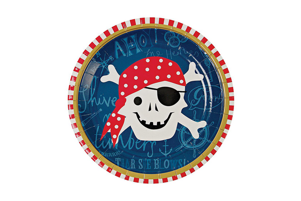 Meri Meri Ahoy There! Pirate Plates | Pop Roc Parties