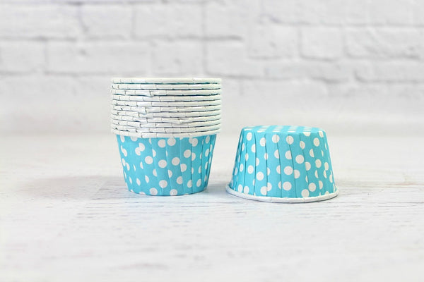Aqua Polka Dot Cupcake Cups - Pop Roc Parties