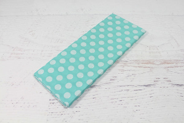 Aqua Polka Dot Tissue Paper - Pop Roc Parties