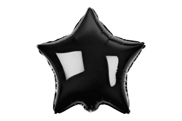 Large Black Star Foil Balloon - Pop Roc Parties