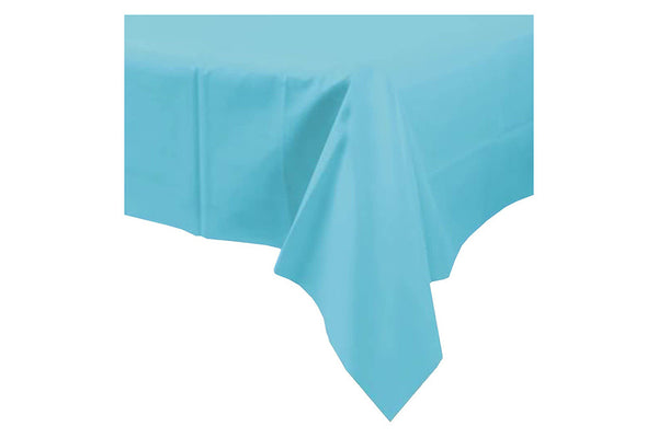 Azure Blue Plain Plastic Table Cover - Pop Roc Parties