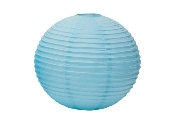 Baby Blue Large Round Paper Lanterns - Pop Roc Parties