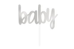Silver Baby Cake Topper | Pop Roc Parties