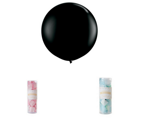Black Jumbo Balloon - 90cm | Pop Roc Parties