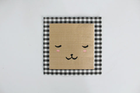 Black Gingham Paper Napkins