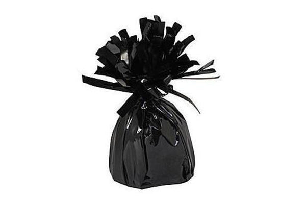 Black Foil Tassel Balloon Weights - Pop Roc Parties