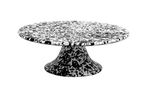 Black Marble Enamel Cake Stand