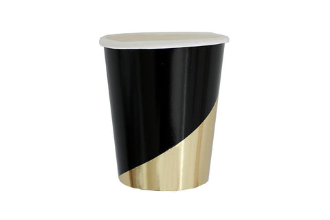 Noir Black Party Cups