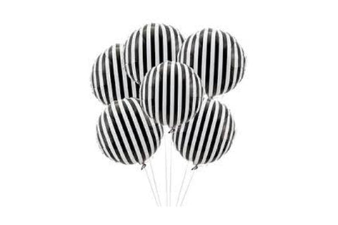 Black & White Stripe Foil Balloon