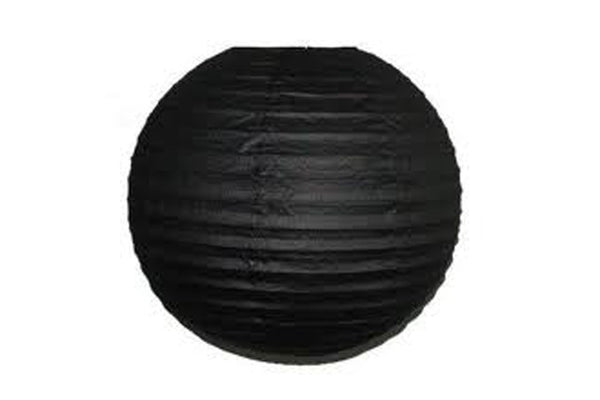Black Large Paper Lanterns - Pop Roc Parties