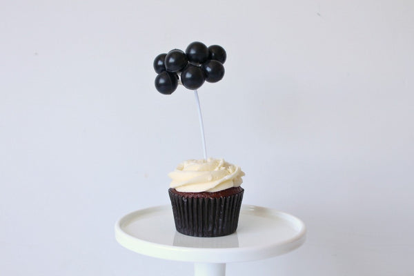 Black Balloon Cake Topper - Pop Roc Parties