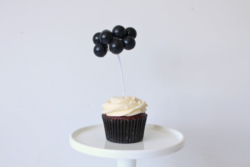 Black Balloon Cake Topper | Pop Roc Parties