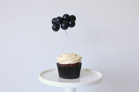 Black Balloon Cake Topper