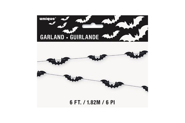 Black Bats Garland | Pop Roc Parties