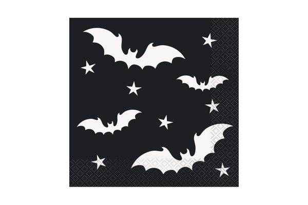Black Bats Paper Napkins | Pop Roc Parties