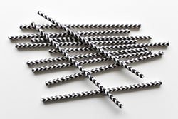 Black Chevron Paper Straws | Pop Roc Parties