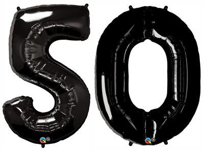 Black Foil Number Balloons