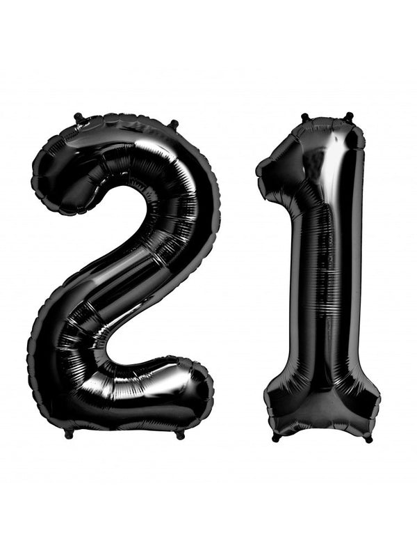Black Foil Number '2' Balloon - 100cm - Pop Roc Parties