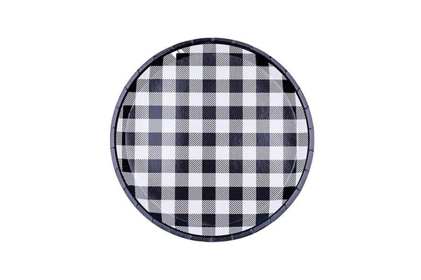 Black Gingham Plates | Pop Roc Parties
