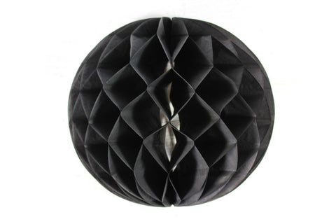 Black Tissue Honeycomb Balls