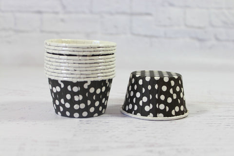 Black Polka Dot Cupcake Cups