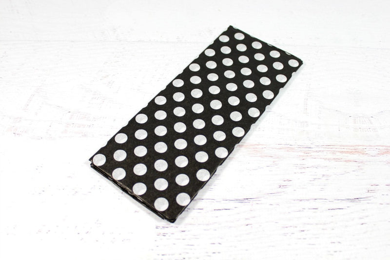 Black Polka Dot Tissue Paper | Pop Roc Parties