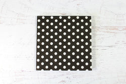 Black Polka Dot Napkins | Pop Roc Parties