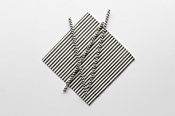Black Chevron Paper Straws - Pop Roc Parties