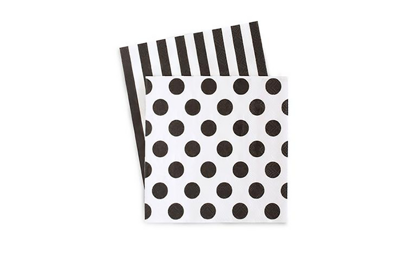 Black Tie Beverage Paper Napkins | Pop Roc Parties