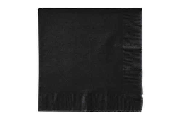 Black Beverage Paper Napkins | Pop Roc Parties