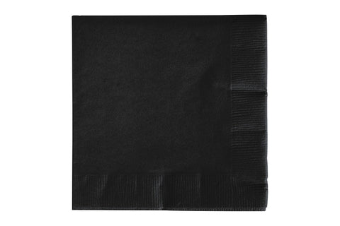 Black Beverage Paper Napkins